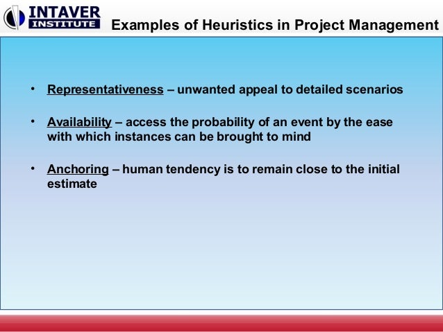 anchor and adjustment heuristic example