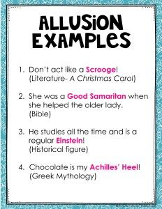 what is an example of mythological allusion