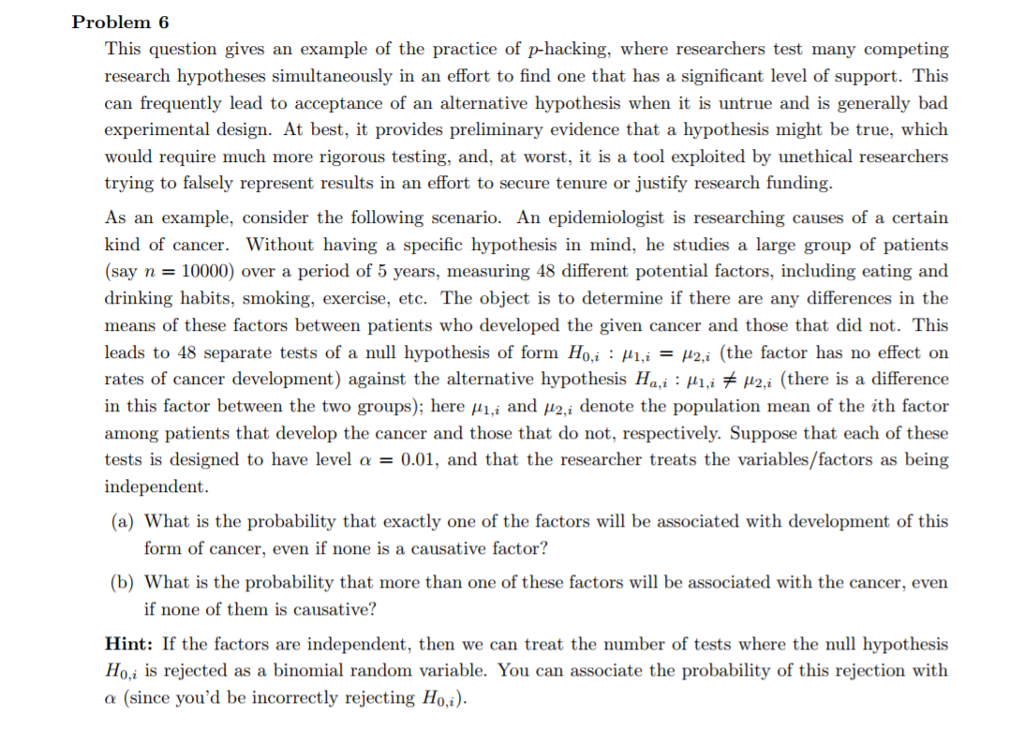 two tailed test example problem