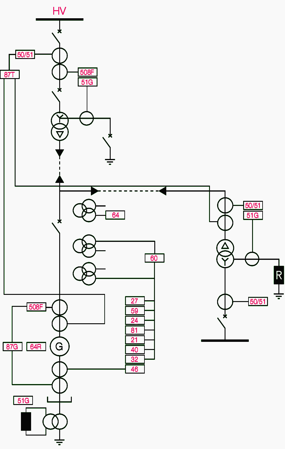 one line electrical drawing example