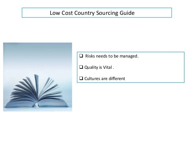 low cost country sourcing example