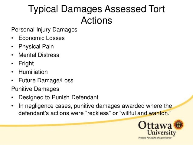 an example of a tort