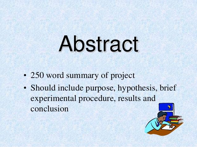example of abstract in a science investigatory project