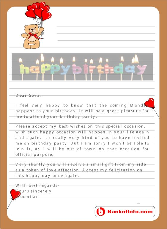 example of writing a letter to a friend